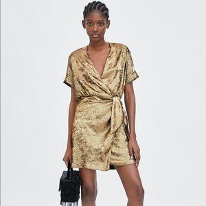 Zara gold dress